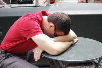 Man sleep in office